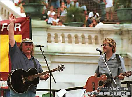 Live concert photo of David Crosby and Sean Lennon