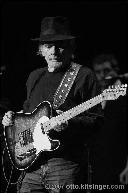 Live concert photo of Merle Haggard