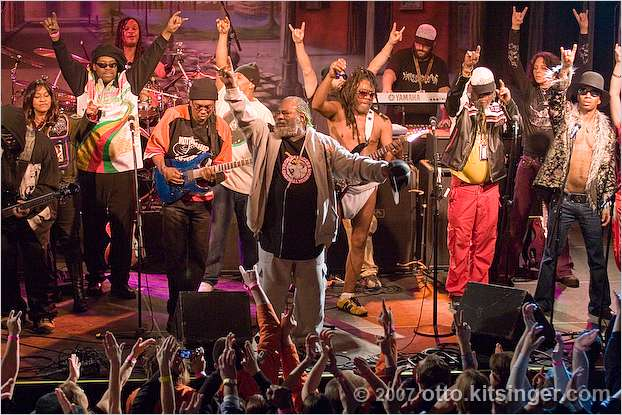 Live concert photo of George Clinton and P-Funk