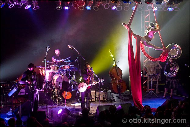 Live concert photo of DeVotchKa